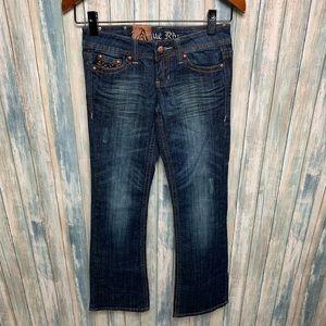 Antique Rivet Jeans sz 24 Dark Denim NEW # L950
